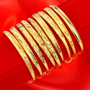 Promoción sin extinción de latón chapado en oro diseñador de las señoras pulsera Pulsera joyería de la boda de novia pulseras regalo de los brazaletes
