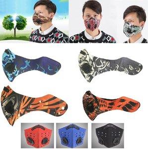 Máscaras caliente camino de la montaña de la bicicleta de la media cara anti-polvo de ciclo respirable de la mascarilla del carbón activado Ciclismo Running Máscara de bicicletas HH7-1388