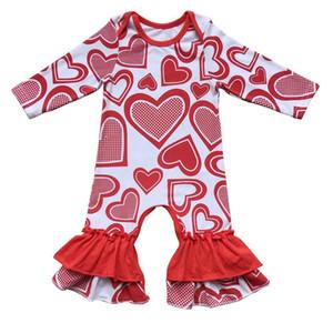 도넛 발렌타인 데이 패트릭 데이 데이 부활절 데이 소녀 의상 의류 장식 의상 소녀 의상 Romper Bulk 도매 Baby Clothing Y19050602