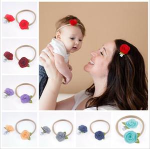 Nueva pinza de pelo de la flor madre barrettes banda para la cabeza de nylon niño 2pcs mama y del niño accesorios para el cabello