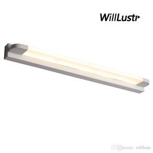 Moderne LED Wandleuchte Eisen Acryl-Spiegellampe Hotel Restaurant Badezimmer Garderobe Ankleidezimmer Schwarz Weiß Minimalist-Licht