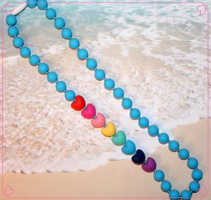 2016 di cura Nuova FDA dentizione silicone sospensione Chewelry collane bambini Chew Beads masticabile dentizione collana collana di cura