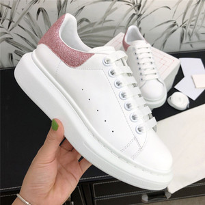 Homens Mulheres Casual Shoes Sapatilhas Pure Couro Cor Suede Luminous Luxo Vestido Shoes Designer Lightweight Platform Trainers Sneakers