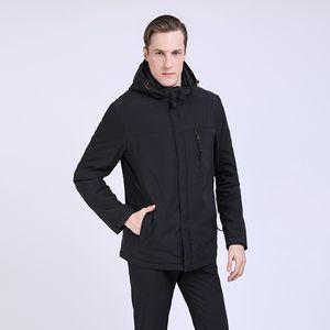 TALIFECK 2019 Novos Mens Outerwear Moda Jaqueta qualidade Casaco Masculino Fino Casuais gola Manga Longa Chapéu destacável