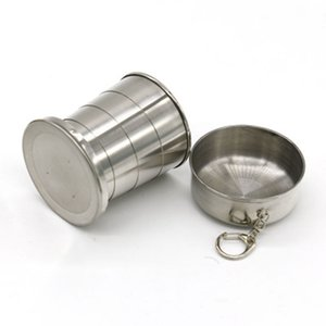 140ML Stainless Steel Portable Outdoor Travel Camping Foldable Collapsible Cup Telescopic Wine Cup Water Bottle ZZA1058