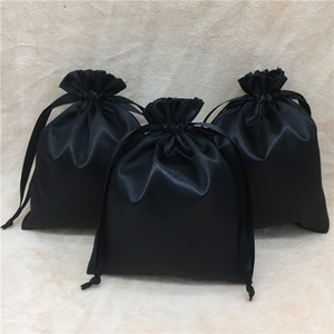 Sacos de cetim para Embalagem Jóias / Maquiagem / Presente / Casamento / Festa / Máscara de Olho / Saco De Armazenamento De cílios Sacos De Pano De Seda Logotipo Personalizado Imprimir 100