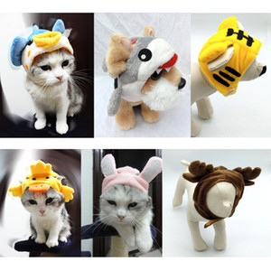 الحيوانات الأليفة قبعة الأسد الأيائل أحد زهرة غطاء الرأس عيد الميلاد Bichon الكلب قبعة تيدي الأرنب غطاء للأذنين القط قبعة قبعات