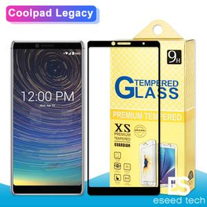 Para o novo modelo coolpad legacy lona foxxd miro lg stylo 5 k40 para sam a50 a505 aa20 a205 a10e 2.5d cobertura completa tela de vidro temperado protect