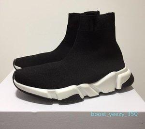 With Box 2019 Designer Socks Speed Trainers Knit Paris Sock Shoe Sock Knit Triple S Boots Trainers Runner sneakers size 36-45 Men Women 35b
