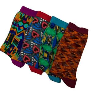الملابس العرقية 4 أزواج / حزمة الجوارب عالية الجودة الأفريقية نمط محايد