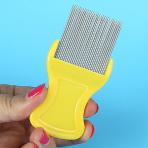 Dog Cat Pets Hair Flea Lice Nit Comb 30 stainless steel needles Pet Safe Flea Eggs Dirt Dust Remover Stainless Steel Grooming Brushes