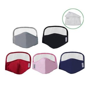 Newest Pure cotton Protective mask full face anti dust protective eye screen mouth mask with 2pcs filter
