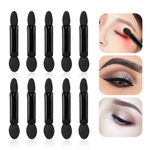 Disposable Double-Head Sponge Eye Shadow Eyeliner Brushes Portable Black&White Eyeshadow Applicator Tools TSLM1