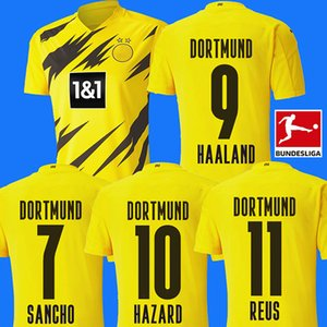 20 21 BVB Borussia Dortmund camiseta de fútbol HAALAND soccer jersey REUS SANCHO BRANDT HUMMELS PELIGRO EMRE CAN PACO ALCACER WITSEL
