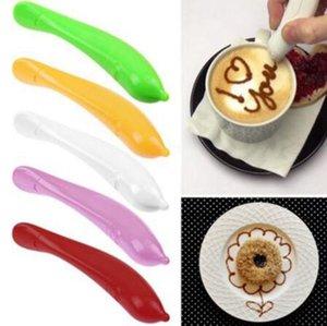 Птица Цветочной Pen торт Красочный кофе Резной ручка украшение ручка кофе Carving Ручка кондитерской Резьбу Cutter Выпечка Tool