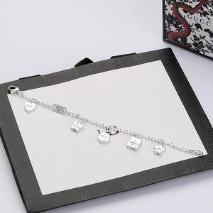 High Quality Thai Silver Bracelet Star Love Butterfly Bracelet Top Luxury Design Bracelet Fashion Jewelry Supply