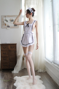 HOT Sexy Lingerie Cosplay Erótico Maid Uniform Set Costume Sexy Babydoll vestido Mulheres Miniskirt Outfit