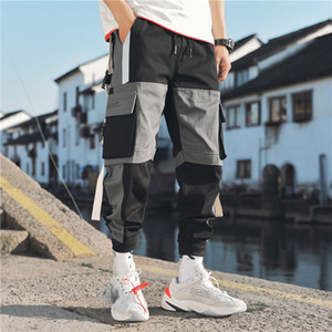 Januarysnow Streetmens-multi Taschen Frachtharemshosen Hip Hop Casual Male Trainingshose Jogginghose Hose Mode Harajuku Männer Hosen