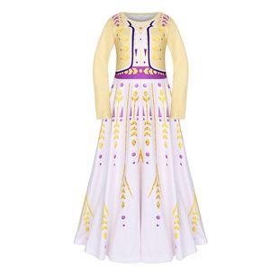 Kızlar Cosplay Anna Elbiseler Snow Queen Karikatür Parti Önlük Çocuk Casual Giyim Kız Yestidos Prenses Tank Elbise 06 gerçekleştir
