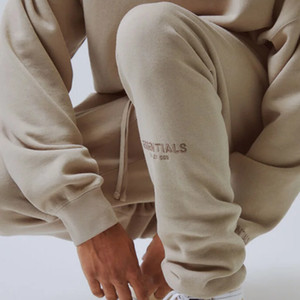 19SS FOG Fear Of God Essentials Letter Embroidery High Street Sweatpants 3M Reflective Vintage Color Fashion Sport Outdoor Fitness HFSSKZ003
