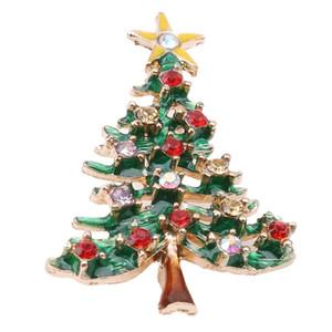 Kadınlar Alaşım Popüler Arbol De Navidad Kostüm Yaka Klip Yaratıcı Kız Hediyeler Eşarp Toka Noel Aksesuar Takı Broş Hediye