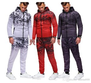 New Mens Joggers Tracksuits Causal Long Sleeve hoodies Mens Sports 2PCS Sets Designer Male Sports Suits