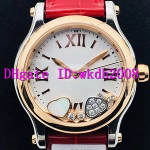 NR Happy Diamonds Lady Watches Luxury Ladies Watch Swiss 2892 Automatic Mechanical 18k Rose Gold Case Sapphire alligator leather strap