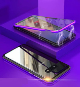 Hybrid Magnetic Adsorption Telefon-Kasten mit gehärtetem Glas für Samsung Galaxy S10E S10 Plus-S9 Anmerkung 10 Plus-S20 Ultra-Note 20 Ultra-