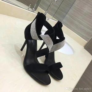 Summer Fashion Rhinestone New Style Rear Zipper Sexy Stiletto Heel Sandals Girls Package Heel Super High Heel Sandsals Free Shipping