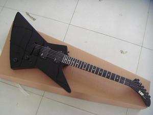 ¡Envío gratis! Venta al por mayor nuevo negro 6 cuerdas James Hetfield guitarra eléctrica brillante BK metalizado equipo utilizado guitarra diapasón de palo de rosa 0427