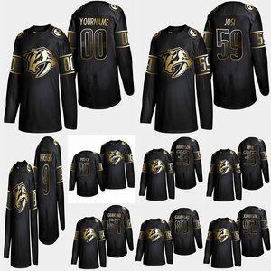 Nashville Predators Golden Edition 95 Matt Duchene 59 Roman Josi 35 Pekka Rinne Ryan Johansen anpassen Alle Nummer irgendein Namen Hockey Jersey