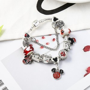 925 silver charms fit for pandora European bracelet Charm Bead Accessories DIY Wedding Jewelry with gift box for girl Christmas