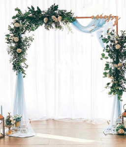 Wedding Stage Props Backgdrop Quadro Ferro Forjado Flor decorativa stand festa de aniversário do casamento Decoração Quare Arch