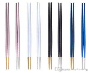 estilo de Portugal apontou pauzinhos cauda Multicolor aço inox 304 de sushi macarrão chopstick O novo serviço de mesa minimalismo