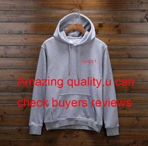Designer Pullover für Männer Frühjahr Herren-Sweatshirt lose Art Art und Weise Tide Luxus Pullover Tops mit Herz-Muster S-3XL