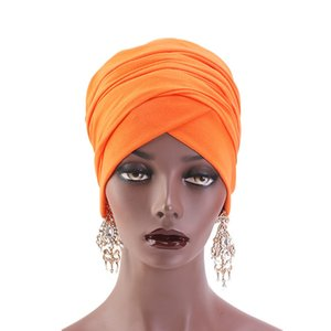Frauen Muslim Inner Hijabs Hat Lady Luxury Magie Turban Cap elastischen Tuch Long Tail Schal Hijabs Hut Haarschmuck