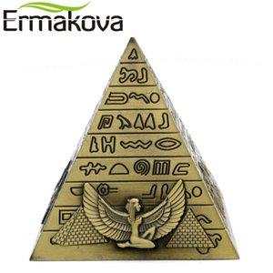 Ermakova Metal Mısır Piramitleri heykelcik Piramit Yapı Heykeli Ev Ofis Masaüstü Dekorasyon Hediyelik Souvenir (Bronz) T200617