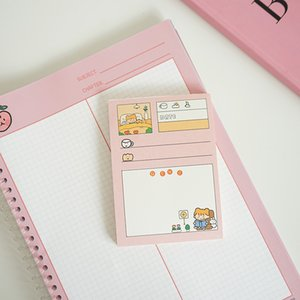 50 Sheets Kawaii Bread Girl Series Memo Pad Cute Stationery N Times Sticky Notes Portable Notepad School Office Supply Papeleria