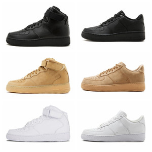 High Quality New Classical All High and low White black Wheat men women Sports Running Shoes Forcing skate sneakers
