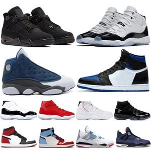 Nike Air Jordan Retro 1 4 6 11 13 basketball Shoes hombres mujeres Platinum negra blanca Plyknit Sports Zapatillas de running negro blanco gris todos los modelos talla máxima 36-45