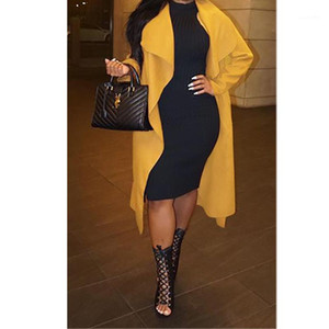 Trench Coats Solid Color Long Sleeve Loose Women Designer Outerwear Spring Autumn Ladies Coats Lapel Neck Womens