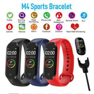 Inteligente Banda M4 rastreador de ejercicios del deporte del reloj pulsera Tasa reloj elegante del corazón 0,96 pulgadas SmartBand Health Monitor Muñequera