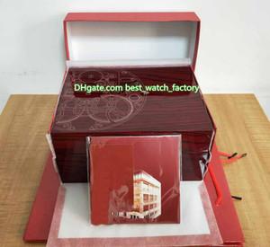 Vente chaude Haute Qualité PP Nautilus Aquanaut Montre Original Box Documents Carte Carte Boîtes De Bois Rouge Sac À Main Pour 5167 5711 5712 5726 5980 Montres