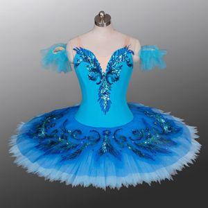 AP059 Adult Lake Blue bird professional dance Tutu ballerina women classical Ballet Tutus for performance