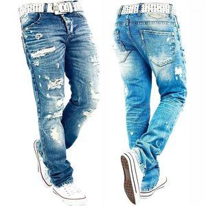 Kot Erkekler Erkek Jean Homme Erkek Erkekler'S Klasik modası Pantolon Kot Biker Pantolon Slim Fit Baghee Düz Pantolon Tasarımcı Ripped1