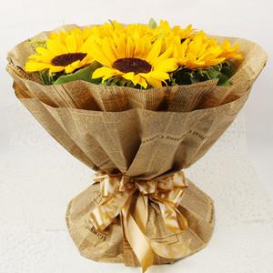 jornal Inglês 50x70cm Vintage Kraft Papers flor papel de embalagem para presente Bouquet Wrapper de flores Wrapping Paper 45pcs / pack