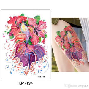 10Pcs Women Fashion DIY Flower Tattoo Fake Tattoo Sticker Body Art Henna Tattoo Body Paint Temporary Bikini Decoration