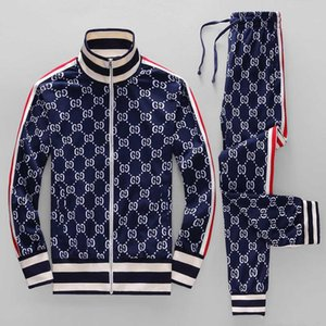 2020ss sportswear moda paletó correndo sportswear carta terno dos esportes dos homens Medusa impressão de Slim com capuz pista shirt roupas e campo