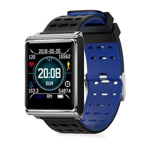 N98 스마트 팔찌 시계 전체 터치 스크린 심박 측정기 혈압계 단계 운동 시계