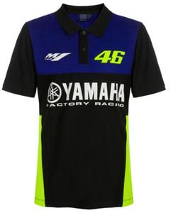 YAMAHA 2020 Nuovo Yamaha Moto Ciclismo Maglia manica corta in cotone stampato collare del basamento la breve maglietta di POLO Shirt